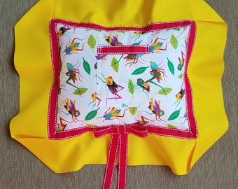 "White, Yellow, Red, and Grasshoppers! Tooth Fairy Pillow---""Hopper"" and ""A Bug's Life"""