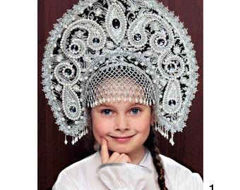 Russian traditional kokoshnik Selena