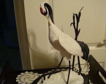 Franklin Mint Japanese Crane Figurine