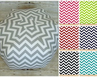 Floor Pouf Ottoman, Chevron Fabric Foot stool, Cushion