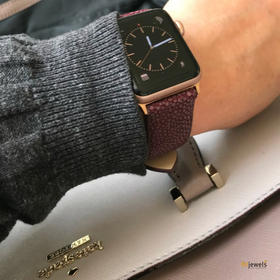 PRE-ORDER - Apple Watch Band - Stingray - white, vine, blue, red and black color - ships 06/13/18