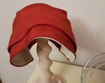 1940s Red childs hat