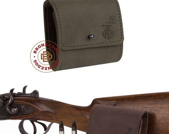 Hunting Rifle Cartridge Holder Wallet, Leather Cartridge Holder, Cartridge Wallet 300 cal Shell Pouch Rifle cal 7.62 Winchester Norma Magnum