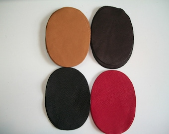 Real Deerskin Leather Elbow Patch Kit - 5'' by 3.5'' -  4 colors to choose from - Made in the USA