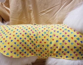 Yellow Hearts Dog Coat