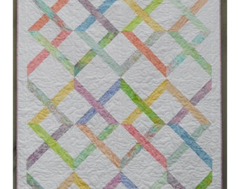 Jelly Roll Quilt Pattern -  Linked In - Hard Copy Version - FREE SHIPPING!