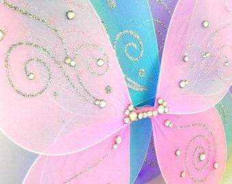FAIRY or BUTTERFLY Wings, Fairy Wings, Butterfly Wings, DIAMOND Embellished, Garden Party, Halloween Costume,