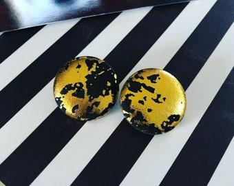 Night Star Button Earrings