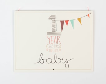 """baby's first year calendar - """"girl"""" coloring"""