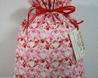 Cloth Gift Bags Fabric Gift Bags Drawstring Gift Sack Reusable Handmade Eco Friendly Medium Size Bag