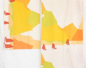 Vintage 70s Vera Neumann Sheet And Pillowcase Set/Bedroom Decor/Retro/Mid Century