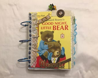 Good Night Bear Junk Journal Scrapbook Album