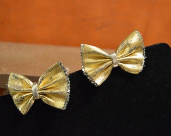 1950's Gold Silver Shoe Clips WORN