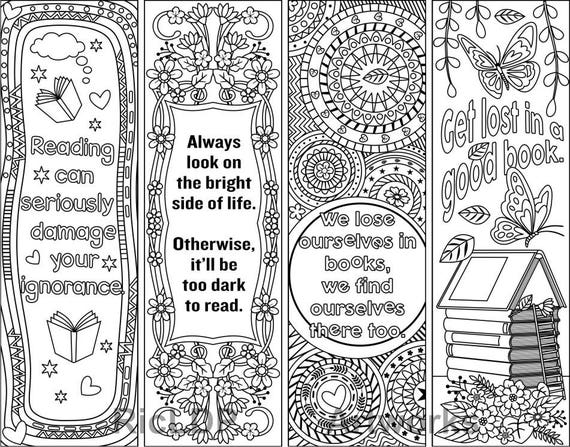 Superb image pertaining to free printable bookmarks to color pdf