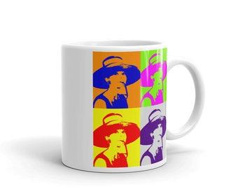 Audrey Hepburn Pop Art Mug, Coffee Mug, Vintage Pop Art Cup