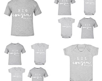 Personalised Kids TShirt | Personalised Kids Clothing | Cousins Shirt | Gift ideas for kids | Gift ideas for Baby | Kids Fashion