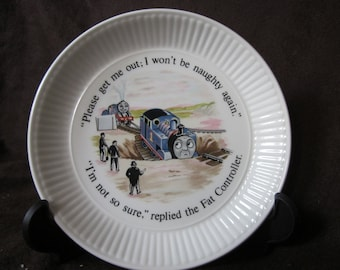 Wedgwood Thomas the Tank Engine And Friends Small Fluted Edged 6 Inch Plate Thomas The Train Small Plate Dinnerware. & Awdry   Etsy