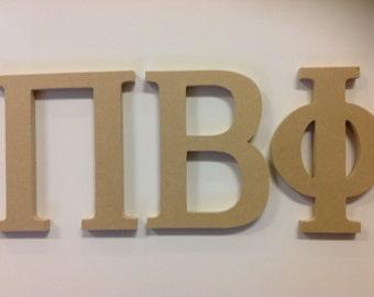 Pi Beta Phi greek letters unfinished