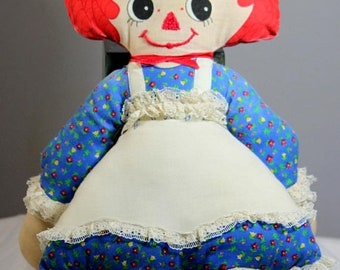 ON SALE NOW Vintage Handmade 1970s Raggedy Ann Doll