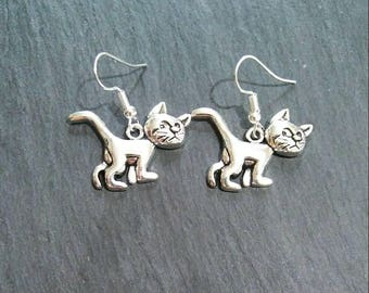 Angry Cat, Grumpy Cat Charm Earrings