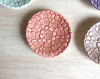 Ceramic Ring Dish, Engagement Ring Dish, Wedding Ring Dish, Bridesmaid Ring Dish, Ring Dish, Jewelry Dish, Jewelry Tray, Handmade Ring Dish