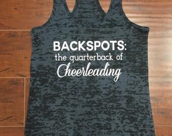 Backspots The Quarterback Of Cheerleading Workout Racerback Tank Top Cheer Tank Cheerleader