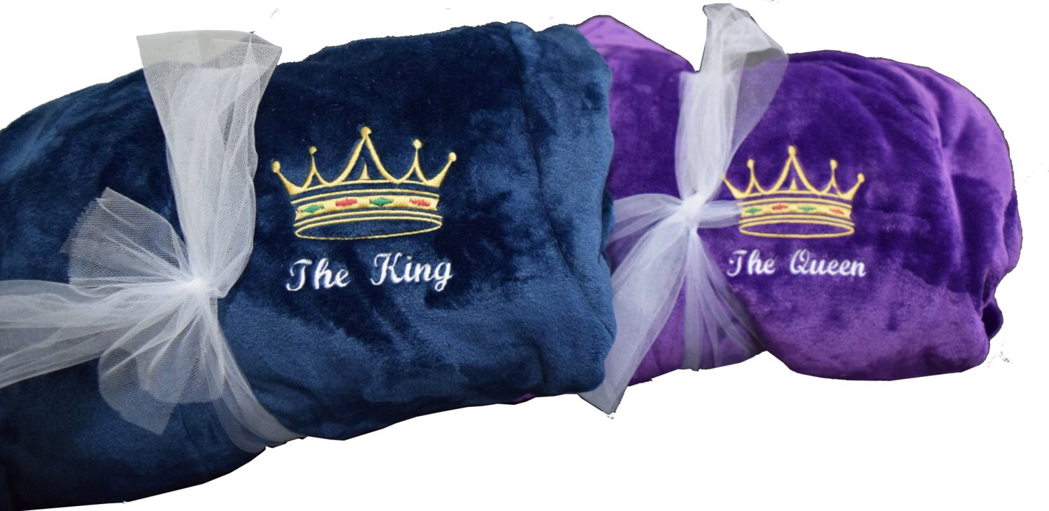 King & Queen Bathrobe Set 2 Robes Bride and Groom Wedding Gift