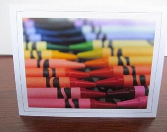Photo Greeting Card | Handmade Card | Photo Note Card | Original Photography | Crayons
