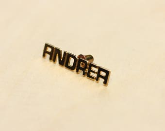 Name Pin Gold, Name Pin, Name Brooch, Gold Pin, Vintage Name Pin, Gold Brooch, Tie Tac, Name, Name Jewelry, Vintage Pin, Word Pin
