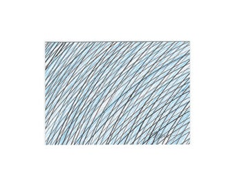 Original ACEO, Artist Trading Card ATC, Mini Original Art, Aceo, Collectible Card, Abstract ACEO, Small Art, Black Blue Line Drawing 3.5x2.5