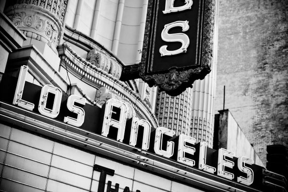 Los Angeles Theater Marquee Sign Neon Sign Retro Home