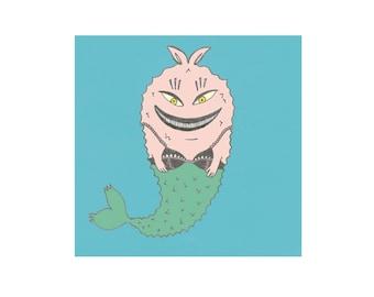 Mermaid Print A5