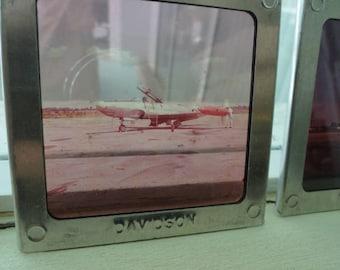 D215) Vintage Original NT - 33A Aircraft Early  Glass Slides