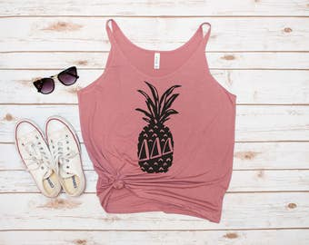 Tri Delta Tank, Pineapple Tank, Pineapple shirt, Delta Delta Delta, Sorority Tank, Pineapple, Laurel and Olive