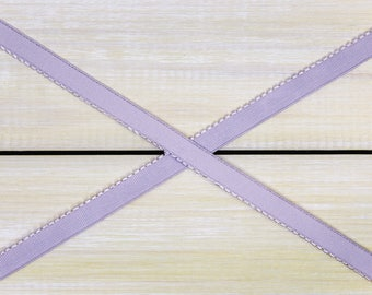 "3/8"" Lavender Mist Picot Elastic Plush Back Finishing Elastic Picot Edge Latex Free Bramaking Supplies Bra Making"