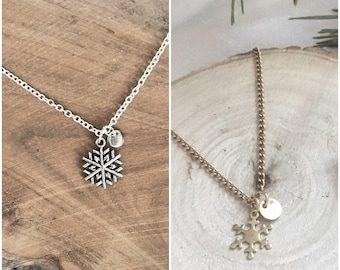 SNOWFLAKE necklace gold and silver