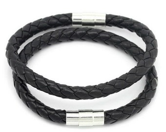 Mens Leather Bracelet Boho Jewelry Beach Surfer Mens Gifts