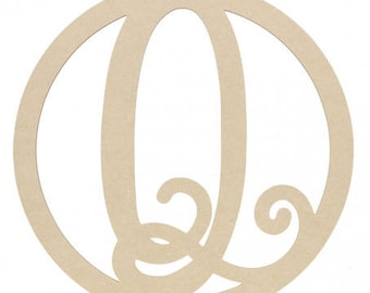 "Large Flower Letter 23""Letter Q Custom Decorated"
