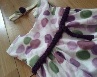 Purple Dot dress and headband