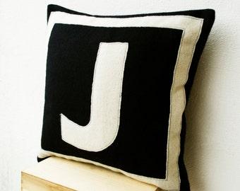 Personalised Monogram Felt Pillow, Letter Pillow, Initial Pillow, Dorm Decor, Couch Pillow, Farmhouse Decor, Housewarming Gift, All Sizes