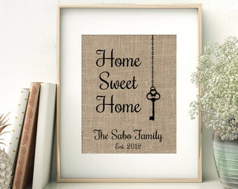 Home Sweet Home | Housewarming Gift for Family | Key House Warming Gift | Our First Home New Home New House | Realtor Closing Gift
