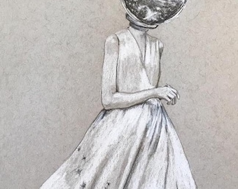 She Sees Only Stars - Print of original drawing