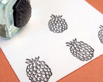 Raspberry Rubber Stamp - Handmade  by BlossomStamps