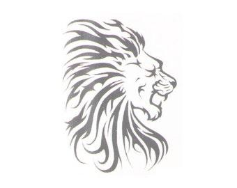 Fake Lion Tribal Tattoo