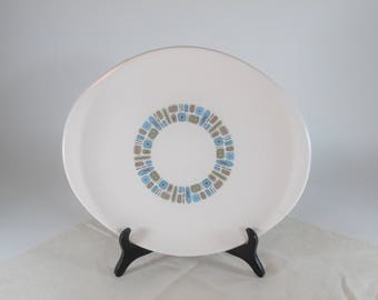 REDUCED! Really Cool Mid-Century Atomic Looking Platter By Canonsburg Pottery In Temporama Pattern