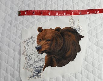 Bear Fabric Piece for Applique