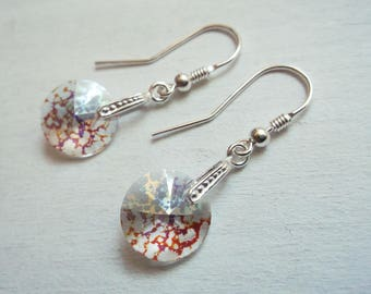 925 silver pendant earrings and Swarovski crystals