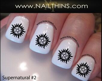 Supernatural Nail Decal Set #2 Anti-Possession Nail Designs NAILTHINS Nail art design