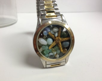 Repurposed Upcycled/Recycled Beach Watch Bracelet W10
