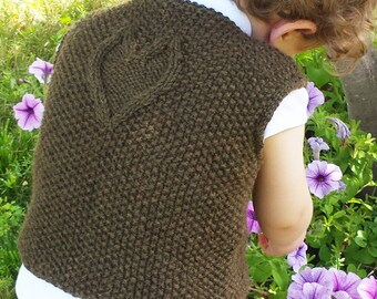 "Toddler/child vest (""Wuv"") knitting pattern (PDF)"